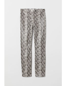 Snakeskin Patterned Trousers by H&M