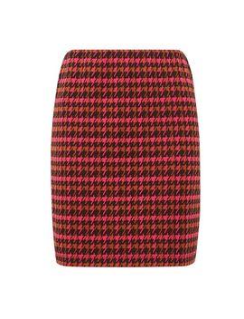 Pink Check Print Mini Skirt by Dorothy Perkins