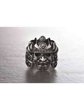 Samurai Ring Samurai Jewelry Samurai Art Samurai Mask Samurai Warrior Samurai Armor Japanese Samurai Halloween Jewelry Gothic Jewelry by Etsy