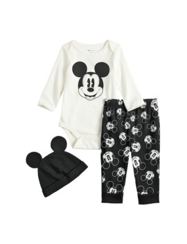 Disney's Mickey Mouse Baby Graphic Bodysuit, Print Pants & Hat Set By Jumping Beans® by Disney's Mickey Mouse Baby Graphic Bodysuit, Print Pants & Hat Set By Jumping Beans