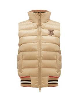 Tb Logo Quilted Technical Shell Gilet by Burberry
