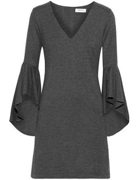Avalanche Ruffled Mélange Stretch Jersey Mini Dress by Bailey 44