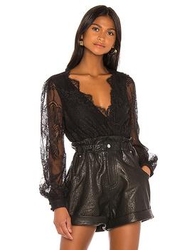 Bo Lace Blouse In Black by Grlfrnd