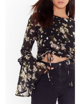 Grow Me Off Floral Ruched Blouse by Nasty Gal