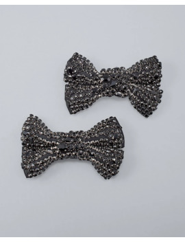 Glass Crystal Bow Shoe Clips by Whbm