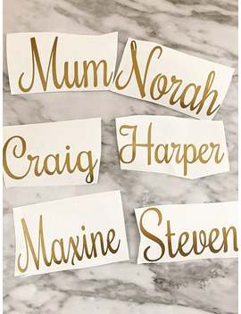 Gold Name Decal, Matte Gold  Custom Name, Gold Script  Font Letters, Monogram  Decal, Laptop Sticker, Macbook Decal, Wall Decal by Etsy