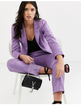 Fashion Union Tailored Blazer Coord With Pocket Detail In Metallic Jacquard by Fashion Union's