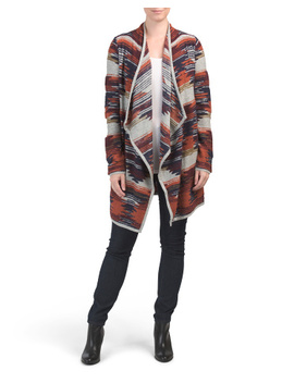 Aztec Draped Front Sweater by Tj Maxx