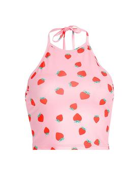 Strawberry Fields Halter Top by Boogzel Apparel