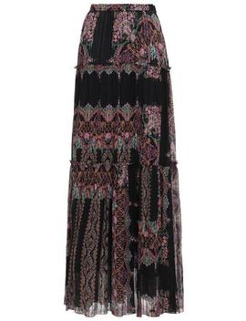 Printed Silk Georgette Maxi Skirt by Etro