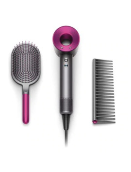 Dyson Supersonic™ Special Edition Mother's Day Hair Dryer Gift Set In Iron/Fuchsia by Bed Bath And Beyond