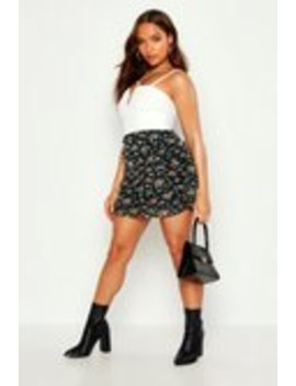 Ditsy Floral Rouched Side Mesh Mini Skirt Ditsy Floral Rouched Side Mesh Mini Skirt by Boohoo