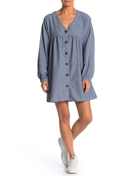 Button Down Oversized Dress by Lumiere