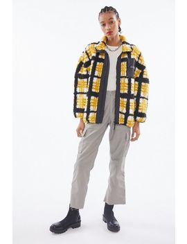Obey Hudson Checkered Sherpa Jacket by Obey