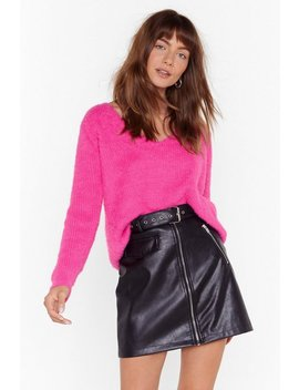 It Could V Me Fluffy Knit Jumper by Nasty Gal