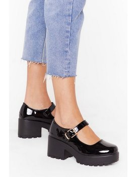 Shine On Patent Faux Leather Chunky Platform Shoes by Nasty Gal