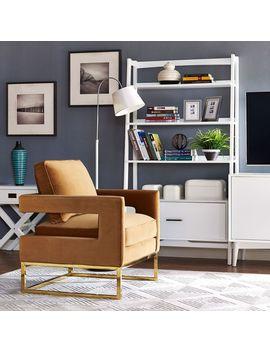 Avery Cognac Velvet Chair by Tov Furniture