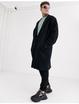 Asos Design Extreme Oversized Duster Jacket In Black With Back Taping by Asos Design