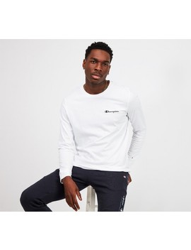 Long Sleeved Logo T Shirt | White by Champion