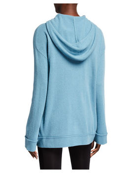 Cashmere Wide Sleeve Hoodie by Neiman Marcus Cashmere Collection
