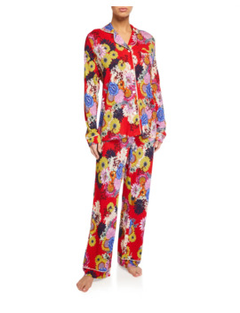 Mischka Floral Classic Pajama Set by Johnny Was