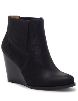 Ciandra Leather Wedge Booties by Jessica Simpson