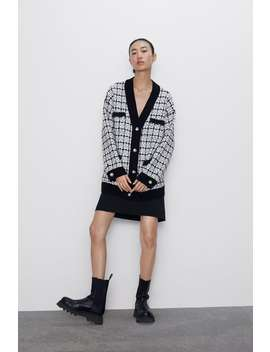 Tweedowy Kardigan Oversize by Zara