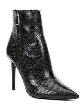Michael Michael Kors Keke Snake Print Embossed Leather Stiletto Booties by Michael Michael Kors