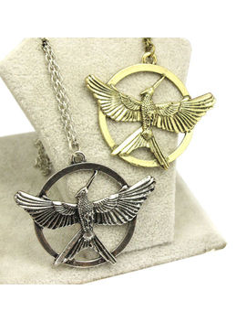 Hunger Games Gold Silver Mockingjay Pendant Necklace Men Women Fashion Jewelry by Unbranded