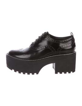 Patent Leather Platform Derby Shoes by Louis Vuitton