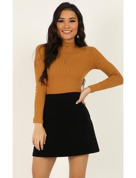 Safe And Sound Top In Mustard by Showpo Fashion