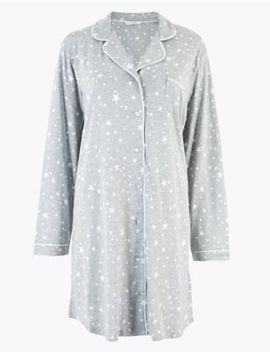 Cool Comfort™ Cotton Modal Short Nightdress by Marks & Spencer