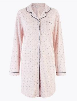 Cool Comfort™ Cotton Modal Spot Nightdress by Marks & Spencer