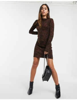 Warehouse Knit Bodycon Dress In Leopard Print by Warehouse