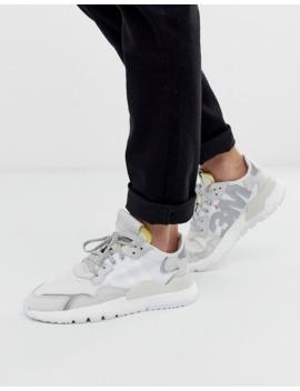 Adidas Originals Nite Joggers Sneakers In Triple White by Adidas Originals