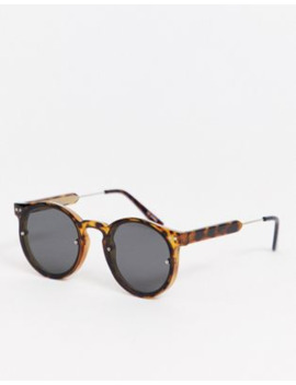 Spitfire Post Punk Round Sunglasses In Tort by Spitfire
