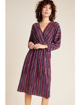 Gillian Pleated Midi Dress by Caara