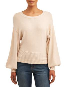 Time And Tru Balloon Sleeve Pullover Women's by Time And Tru