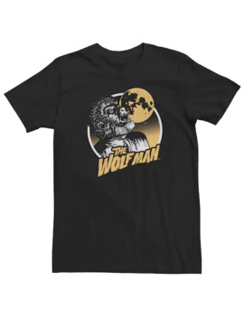 Men's Universal Monsters The Wolfman Howling Vintage Portrait Tee by Licensed Character