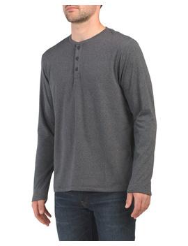 Long Sleeve Fleece Henley Top by Tj Maxx