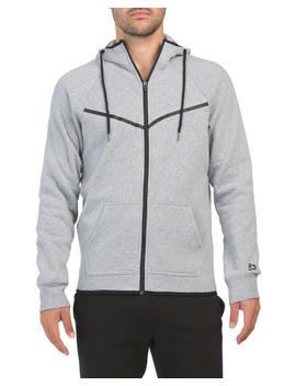 Fleece Zip Front Hooded Jacket by Tj Maxx