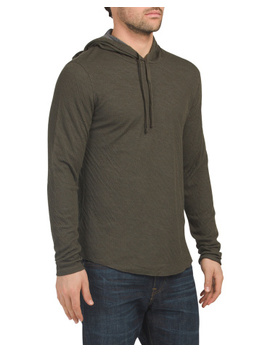 Contrast Double Knit Hoodie by Tj Maxx