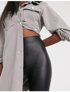 Asos Design Tall Leather Look Legging by Asos Design