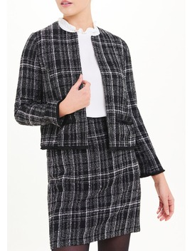 Boucle Cropped Jacket by Matalan