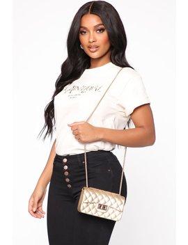 A Classic Twist Bag   Gold by Fashion Nova