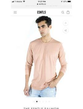 Esntls Salmon Long Sleeve Shirt Size Medium by Esntls