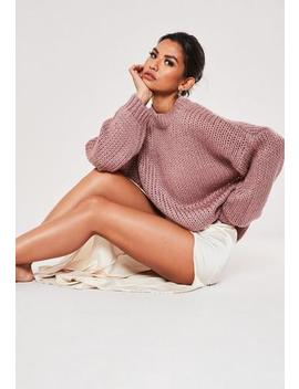 Premium Grey Chunky Knitted Jumper by Missguided