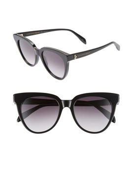 53mm Cat Eye Sunglasses by Alexander Mcqueen