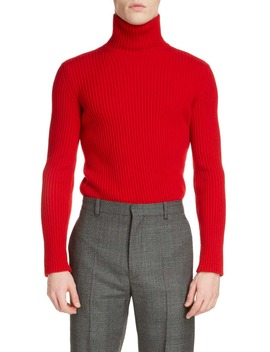 Solid Cashmere Blend Turtleneck Sweater by Balenciaga