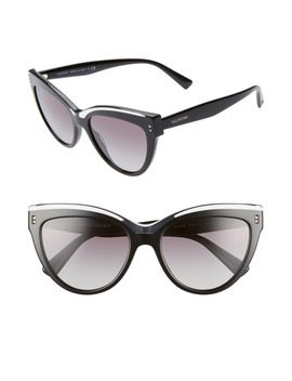 Rockstud 54mm Cat Eye Sunglasses by Valentino